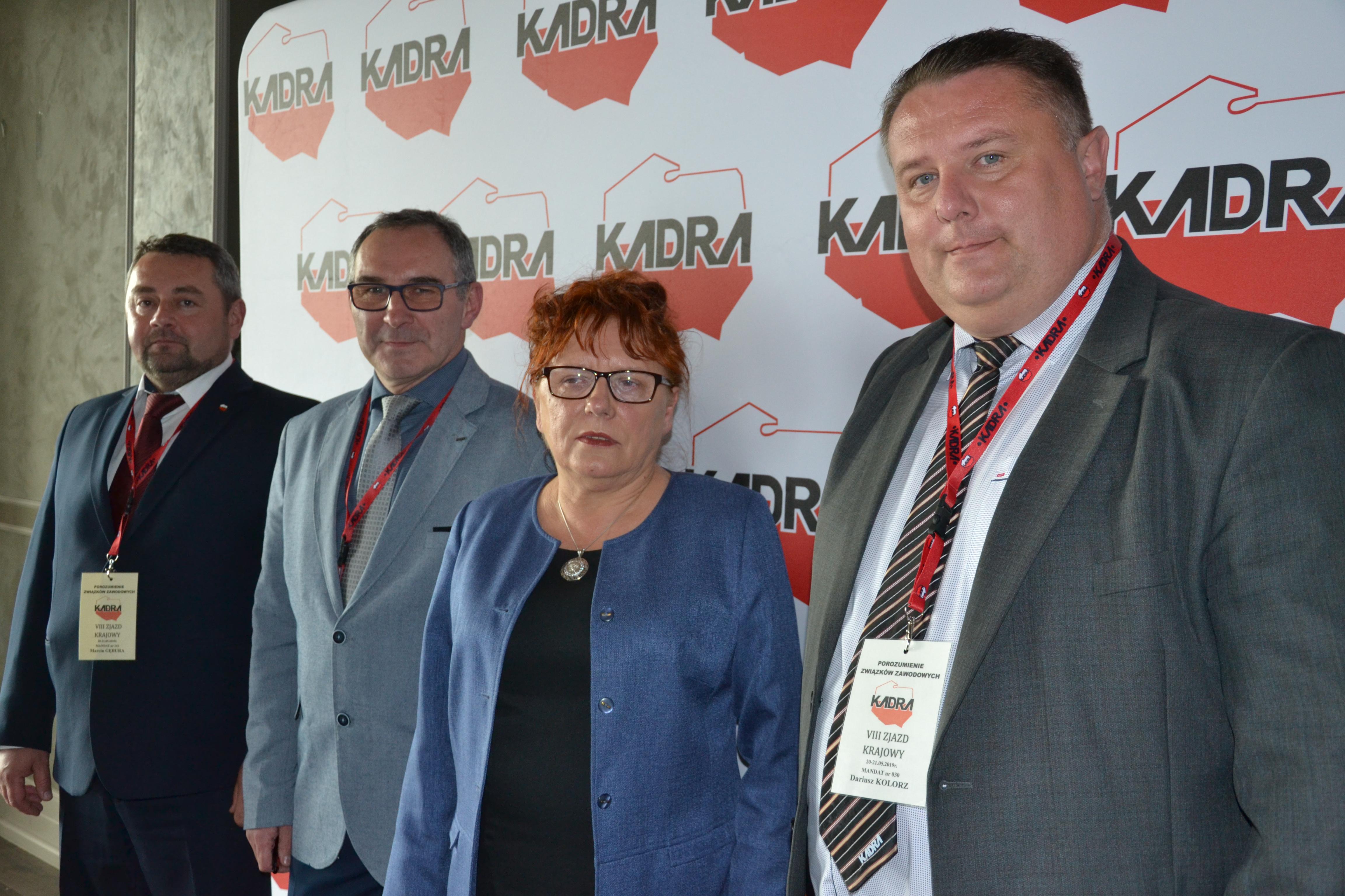 Na zdjęciu od prawej strony: Dariusz Kolorz, Barbara Mierzejewska, Marek Wyszka, Marcin Gębura.